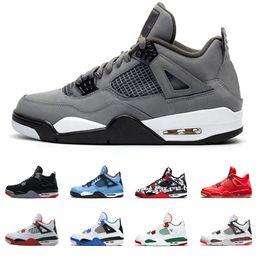 2019 calzado deportivo para hombre talla 47 Cool Grey 4 4s Hombres Zapatos de baloncesto OG Criado para 2019 Tattoo Singles Day Raptors para hombre Diseñador Entrenador zapatillas deportivas Tamaño 41-47 calzado deportivo para hombre talla 47 baratos
