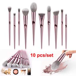 Pennello per trucco professionale Premium Set 10 PCS Pennelli per cosmetici Trucco Fondotinta Blending Blush Powder Blush Concealers Eye Shadows Brushes da