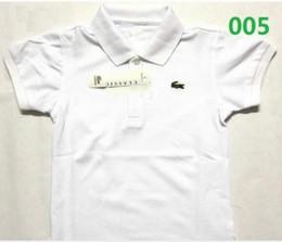 Argentina Nuevas camisetas para niños Bordado de cocodrilo camiseta de manga corta para niños, niñas, polo, camiseta para niños Camisetas de diseño para niños, 6 colores tops Suministro