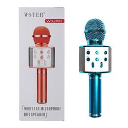 WS858 Bluetooth Hoparlörler Karaoke Mikrofon Kablosuz Profesyonel KTV Hoparlör El Mikrofonu Radyo Stüdyo Kayıt Akıllı Telefonlar için Mic nereden