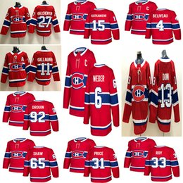 23e49c71e 2018 New Montréal Canadiens 6 Shea Weber 31 Carey Price 11 Brendan  Gallagher 13 Max Domi Stitched Red and White Ice Hockey Jerseys