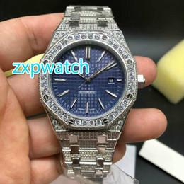 Montre à diamants complet en acier inoxydable argent Mouvement automatique Diamond Shine Luxe élégant AAA Hip-Hop Set Diamond montres étanches ? partir de fabricateur