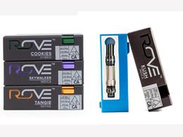 2019 elektronische zigarettenkipper batterie ROVE Vapes-Patronen mit Verkaufsverpackung Pyrex-Glasöltank-Verdampfer Leere Vape Pens-Patrone E cig-Zerstäuber Für 510-Faden-Batterie