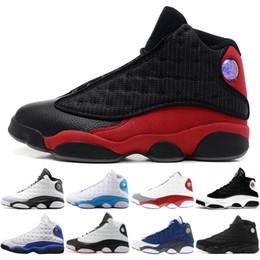 2019 zapatos originales italia Nike Air Jordan 13 2019 13 zapatos J13 blancos He Got Game Black Cat criados Chicago Hyper Royal Playoffs Italy Blue con tamaño original 40-46 zapatos originales italia baratos