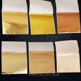 500 pcs 9x9 cm Arte Artesanato De Papel Imitação De Ouro Lasca De Cobre Folhas De Folhas De Folhas Folha De Papel Para Douramento Artesanato Diy Decoração de Casa J190710 de