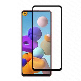iphone hochwertiges kameraobjektiv Rabatt Voll Kleber volle Abdeckung gehärtetes Glas für Samsung A01 A11 A21 A31 A41 A51 A61 A71 Telefon Schirm-Schutz für