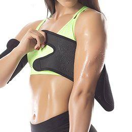 Doudoune sport en Ligne-Chaud Bras Shaper Couvre Bras Sport Fitness Courir Brassard Serré Sweat Wrap Manche Shapewear 1 Pcs LLA61