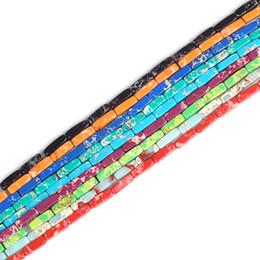 Doğal İmparator Taş Boncuk Deniz Tortu Renkli Imperial Jasper Taş Yılan Derisi Gevşek Boncuk 4 * 13mm Takı Yapma Aksesuarları nereden