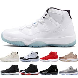 5a2665ea2ce9aa Heiße Übereinstimmung hohe 45 Platin-Tönung 11 XI 11s Kappe und Kleid Mens  Basketball Schuhe PRM Erbin Turn Red Space Jams Bred Frauen Männer Sport  Sneakers ...