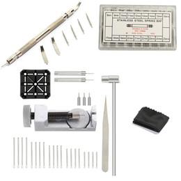 Trousse à outils pour bracelet de montre, 106 en 1 dissolvant, outil de barre à ressort avec broches supplémentaires 72Pcs, goupille fendue 20Pcs, support 1Pcs, tête 1Pcs H ? partir de fabricateur