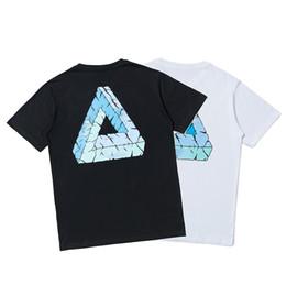 2019 camisetas de anime Verano nueva camiseta para hombre de deslizamiento británica de moda T Palacios lettenr priting camisetas TREET par de hip-hop de moda camiseta camisa de los hombres de anime camisetas de anime baratos