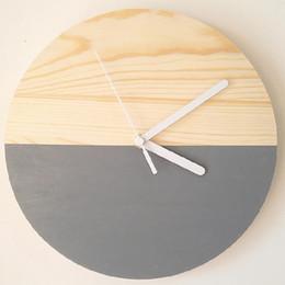 orologi di bambù Sconti Orologio da parete silenzioso Orologio da parete al quarzo decorazione del salone della vigilanza di disegno moderno in legno di bambù Breve Ago Clocks Home Decor