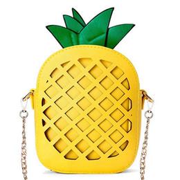 2020 sacchetti di frutta di ananas JHD-Women's Pineapple Purse, Borsa a tracolla in pelle a forma di frutta (1 ananas) sconti sacchetti di frutta di ananas