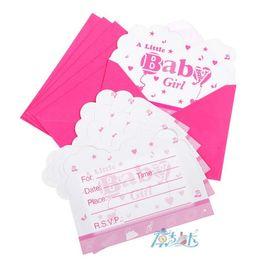 Convite meninos on-line-Convite de papel do convite do aniversário cartão Flamingo Meninas Meninos Crown festa de aniversário feliz dos desenhos animados Cartões Crianças Cartões Supplies