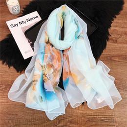 Argentina 2019 diseñador superior bufanda de seda marca bufanda de las señoras suave super larga bufanda de lujo mantón de la moda de primavera impresa bufandas.190X135 Suministro