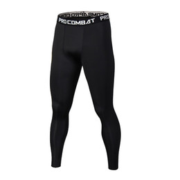 Canada New Summer Thermal Casual Pantalons Hommes Marque Compression Collants Skinny Leggings Hommes Mode Élastique de Fitness Crossfit Pantalon Homme cheap male compression pants Offre