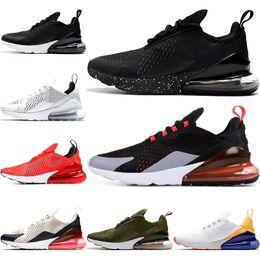 2019 zapatillas deportivas acolchadas 270 Cushion Running Shoes Sneakers Black Volt Black White Core White Medium Olive 27C Trainer Sport Designer Casual Shoes 36-45 zapatillas deportivas acolchadas baratos