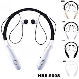 Новые hbs онлайн-Новый Универсальный Шейный Спорт Bluetooth Наушники Наушники HBS 900s Беспроводные Наушники Hand Free Гарнитура С Микрофоном последние 15 часов V4.0 Для Телефона