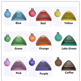 Acampamento tenda fácil on-line-SimpleTents Easy Carry Tendas Outdoor Camping Acessórios para 2-3 Pessoas UV Protection Tenda para Beach Travel Gramado Tenda colorida com dhl