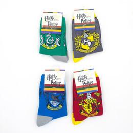 Badge di harry potter online-Calzini serie Harry Potter / Grifondoro Serpeverde Corvonero Tassorosso College con calzini distintivi calzini buoni di alta qualità di alta qualità EEA245