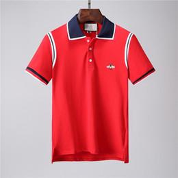 2018Spring Summer Fashion Polo Mens Designer Brand T-shirt Ricamato Tiger Wolf a maniche corte T-shirt da uomo T-shirt da uomo da camicie da uomo di moda giovanile fornitori