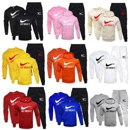 Männer kapuzen trainingsanzug online-Neue Marke Anzug Fashion Hoodies für Männer Sport dreiteilig Sets starke mit Kapuze Wolle + Pants + Sweatshirt Sport Anzug