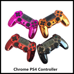 Juego de vibración online-Mando inalámbrico 7colors Chrome PS4 para PS4 Vibración Joystick Gamepad PS4 regulador del juego para PlayStation 4 Controlador con Box