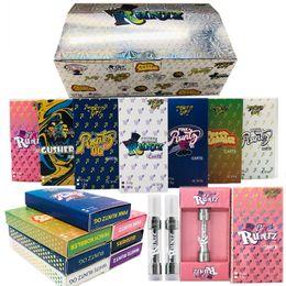 E caixas de embalagens para cigarros on-line-Runtz Vape cartuchos de 0,8 ml 1,0 ml M6T Dank Vape Carrinhos Embalagem Holograma Flavor Box 510 bobina cerâmica 1.8mm * 4 furos Oil E-Cigarros