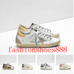 zapatos de diseñador rosa fuerte Rebajas Venta caliente Blanco Dorado Rosa Superstar Zapatos de diseñador GB Zapatillas de cuero Zapatillas bajas Hombres Zapatos Mujeres Zapatos casuales Pisos Tenis Tamaño 35-45