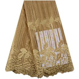 Laço Africano Tecido 2019 Bordado Nigeriano Laços de Tecido de Noiva de Alta Qualidade Francês Tulle Lace Tecido Para Festa de Casamento Y1430 de Fornecedores de jaqueta de seda verde