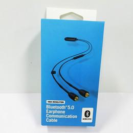 Bluetooth se online-SE Bluetooth 5.0 auricolare cavo di comunicazione senza fili ad alta risoluzione auricolari via cavo per Auricolari Bluetooth interruttore Cavi nave libera