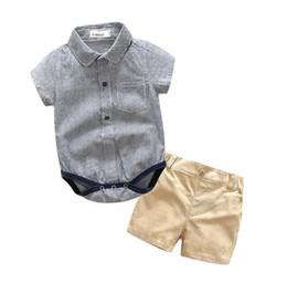 2019 giù paglia Pagliaccetto per abbigliamento da neonato, piumino corto, stampa romper + pantaloncino corto da bambino di alta qualità sconti giù paglia