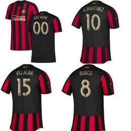 366da8dcf 19 20 Atlanta United FC Football Jerseys ALMIRON JONES MARTINEZ GARZA  VILLALBA MCCANN Customize Home Away Third Red White Black Soccer Shirt