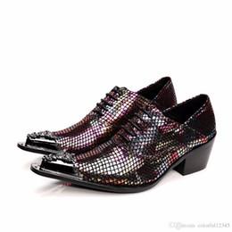 2020 zapatos personalizados hombres oxford Sexy2019 Pop Bling para hombres por encargo de tacón alto para bodas y fiestas en zapatos Oxford para hombres, planos zapatos personalizados hombres oxford baratos