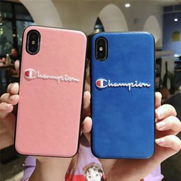 Campeones Bordados Cartas Funda de Teléfono Celular Cubierta de Teléfono TPU iPhone 6 6s 7 8 iPhone 6 6s 7 8 más iPhone x xr xs max Protección Shell B42601 desde fabricantes