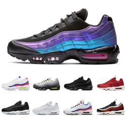 cheap for discount f5347 ffd47 2019 nike air max 95 homens tênis de corrida qualidade superior THROWBACK  FUTURO Triplo preto branco BRED mens formadores moda sports sneakers