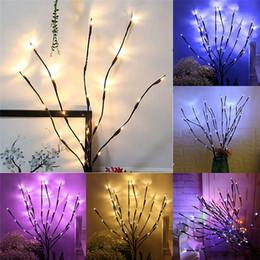 Jarrones de relleno online-20 bombillas LED Luces de rama de sauce Lámpara Lámpara de florero alto natural Ramita de sauce Rama iluminada Luces decorativas de boda de Navidad