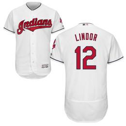 Homens personalizados Cleveland Francisco Lindor Indians Bordados Baseball Jersey entrega gratuita de