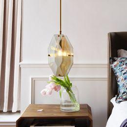 2019 kristall nachttischlampen Restaurant Kronleuchter Licht Luxus Kristall Lampe net rote Nachttischlampe Schlafzimmer Sehr einfache Kopf Bar Tischlampe günstig kristall nachttischlampen