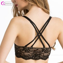 dd8934c51ed99 New fashion Thick cup Criss-Cross bra sexy women wire free underwear nylon front  closure bra traceless bra Qianziwanli 1809