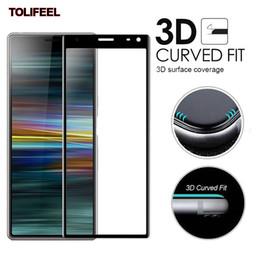 sony z ultra Скидка 3D соблазнительная полная крышка из закаленного стекла для Sony Xperia 10 XA2 Plus 1 XZ4 XZ2 XA3 ультра защитная пленка 9H защитная пленка
