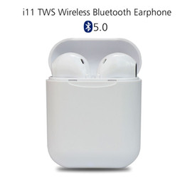 спортивный s9 bluetooth наушники микрофон Скидка Новейшие беспроводные наушники i11 tws 5.0 Bluetooth для наушников Air Mini Наушники Гарнитура для iPhone X iPad Apple Watch Samsung Стручки
