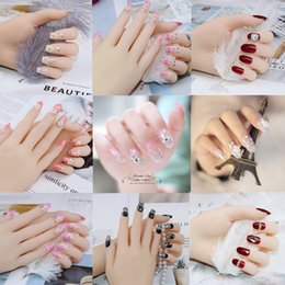 varietà di rosa rossa Sconti Unghie finite sposa unghie pezzo d'usura unghie pezzo patch net rosso società 24 pezzi collezione di varietà