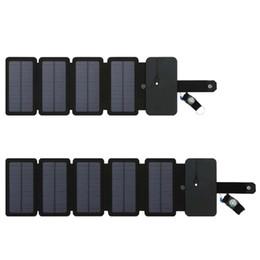 appareils solaires Promotion Panneaux solaires SunPower Chargeur de cellules solaires pliable 10W 5V 2.1A Périphériques de sortie USB Panneaux solaires portables pour smartphones