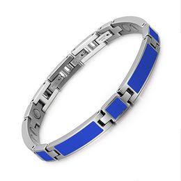 синие магниты Скидка Новый браслет из нержавеющей стали с каплевидным магнитом Европейская и американская мода Женский браслет Blue drip
