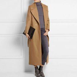 maxi invierno plus abrigos mujer Rebajas Casaco Feminino 2019 Reino Unido Mujeres Tallas grandes Otoño Invierno Cassic Simple Lana Maxi Abrigo largo Túnica femenina Prendas de abrigo Manteau Femme
