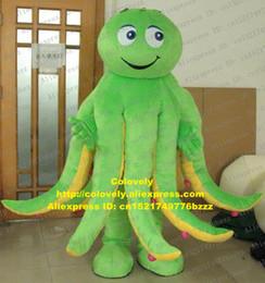traje de mascote de polvo Desconto Lula Calamary choco Inkfish Sepia Octopus Devilfish polvo mascote traje adulto cabeça muito grande pré-escolar educação zz7465