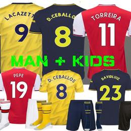 Kit david online-PEPE David Luiz camiseta de fútbol 19 20 NICOLAS CEBALLOS HENRY GUENDOUZI Sokratis Tierney 2019 2020 de fútbol camisa de los hombres + kit para niños Camisetas