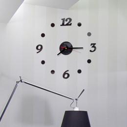 2020 números de adesivo de parede Números DIY Relógio de parede Modern FramelessArabic Adhesive 3D superfície do espelho Home Office etiquetas da escola em silêncio por decorativa desconto números de adesivo de parede