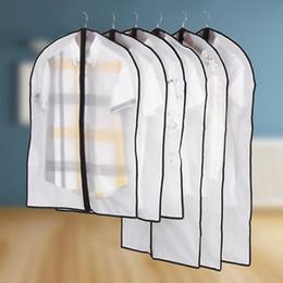 Argentina Colgar bolsas de ropa transparentes para el armario bolsa de ropa a prueba de polvo Transparente Armario bolsa de suspensión para la chaqueta de abrigo vestido supplier dust bag dresses Suministro